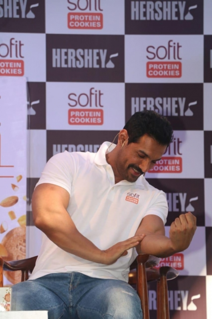 John Abraham Launch Hershey Sofit Protein Cookies Photos