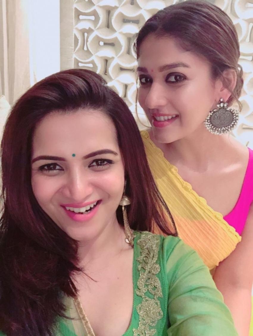 Nayanthara Celebrates Diwali With Vignesh Shivan  Her Close Friends Photos
