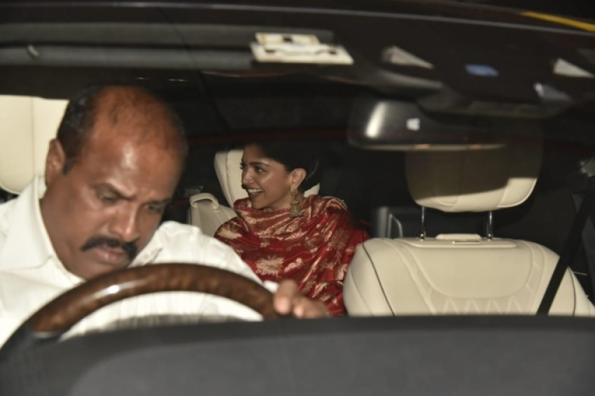 Newly Wed Deepika Padukone And Ranveer Singh Return Back From Italy Photos