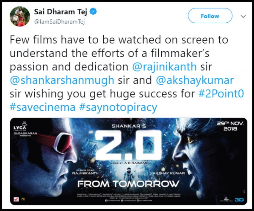 Not Just The General Audience, Celebrities Are Also Celebrating the 2.0 Movie Photos