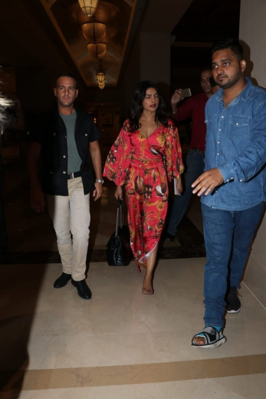 Priyanka Chopra for her wedding fittings at JW Marriott Photos