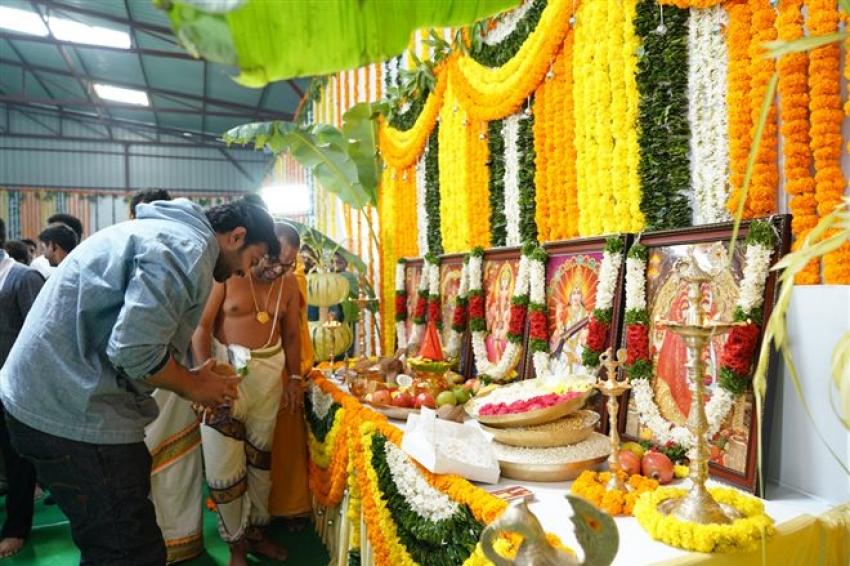 Rajamouli's RRR Movie Launch Photos