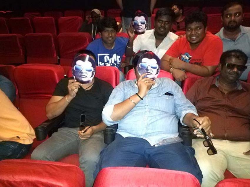 Rajini 2.0 Movie Release Fans Celebration Begins Photos