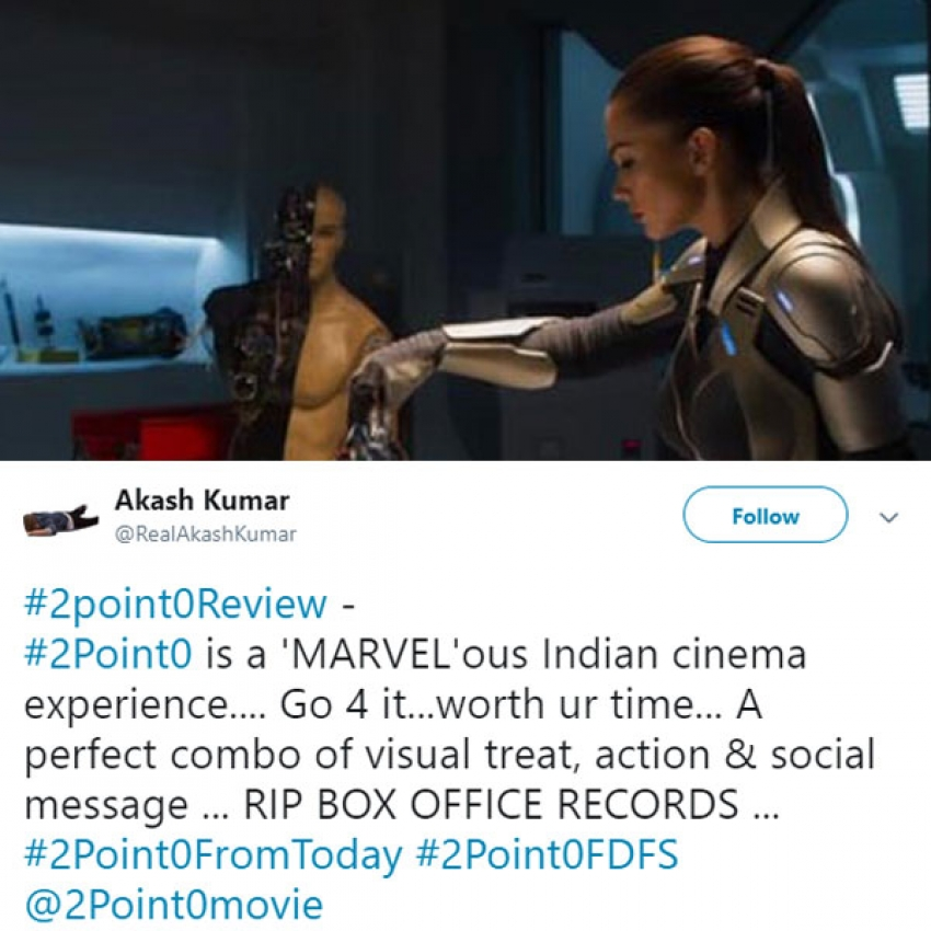 Rajini And Akshay 2.0 Movie Social Media Audience Reaction Photos