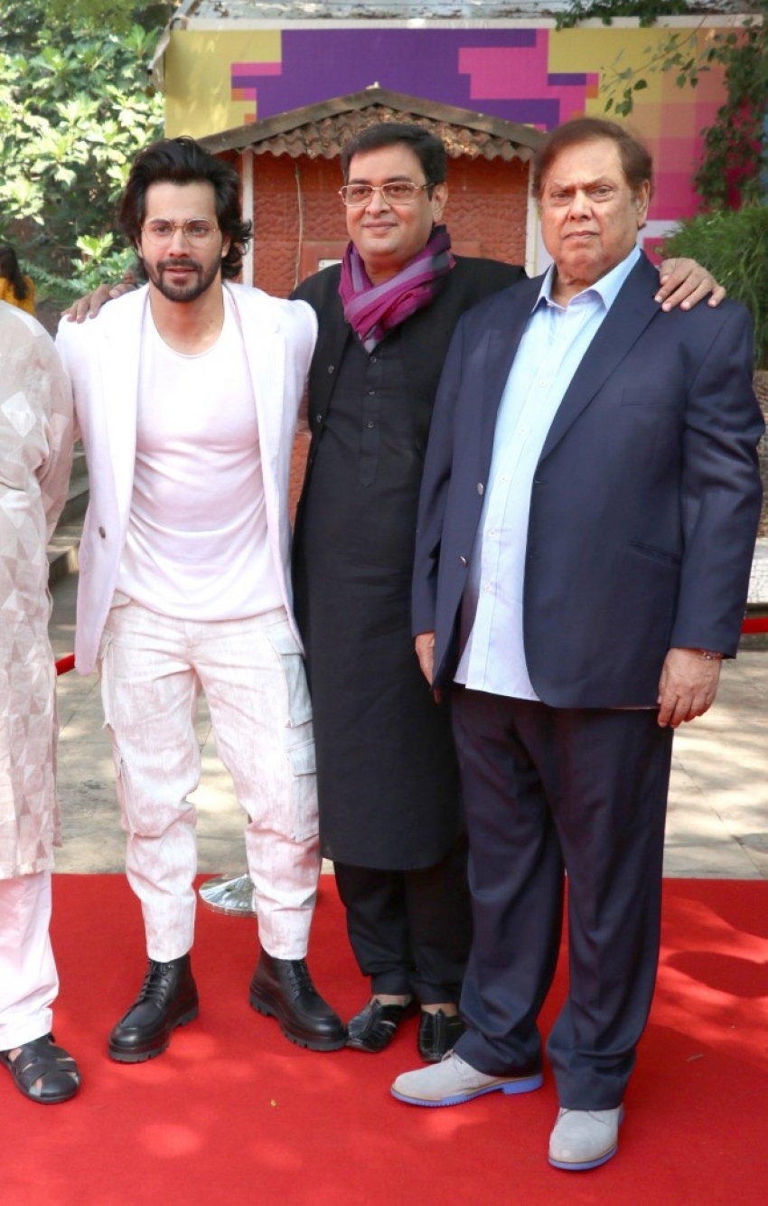 Varun Dhawan with father David Dhawan at IFFI 2018 in Goa Photos