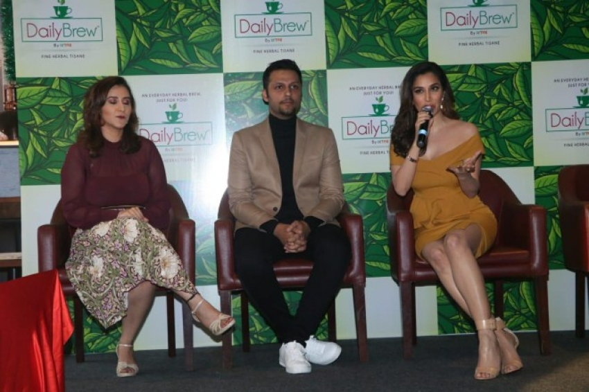 Dia Mirza & Sophie Choudry At The Launch Of New Daily Brew Tea Brand Photos