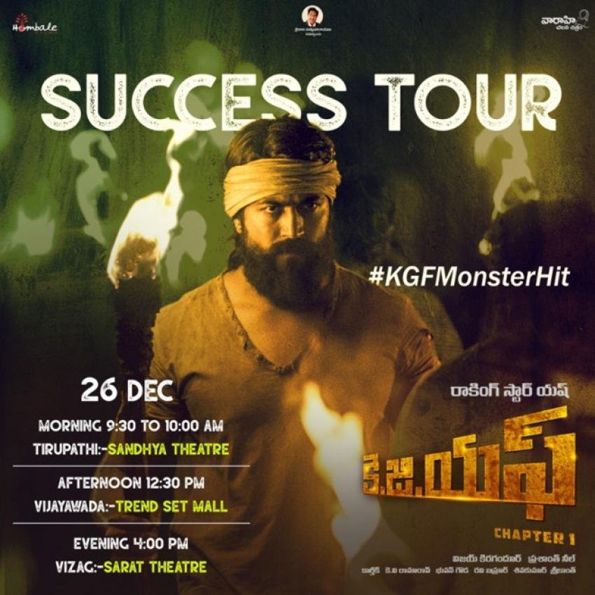 KGF Movie Success Tour Photos