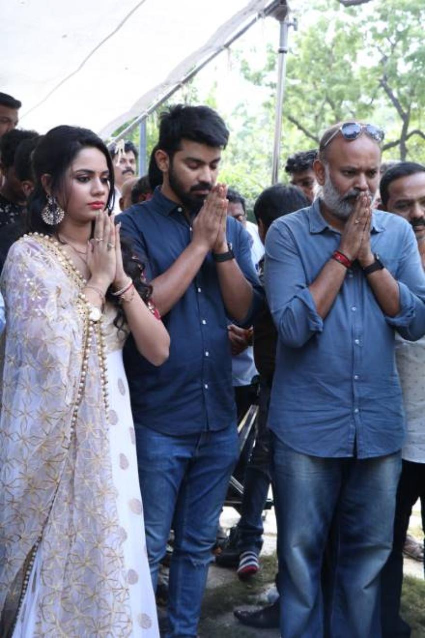Mahat Raghavendra & Aishwarya Dutta In Venkat Prabhu's Next Untitled Movie Pooja Photos