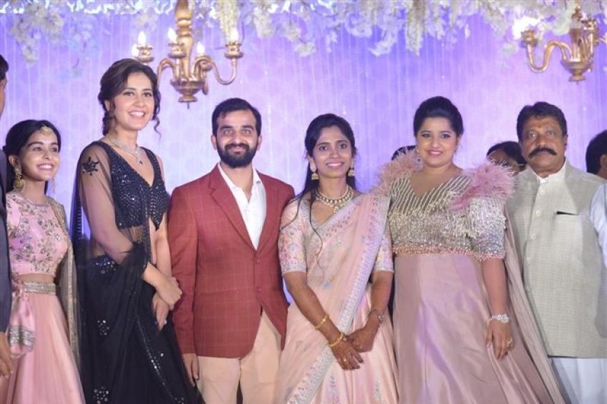 Mahesh Babu, Nani & Raashi Khanna At Producer Harshith Reddy Reception Photos