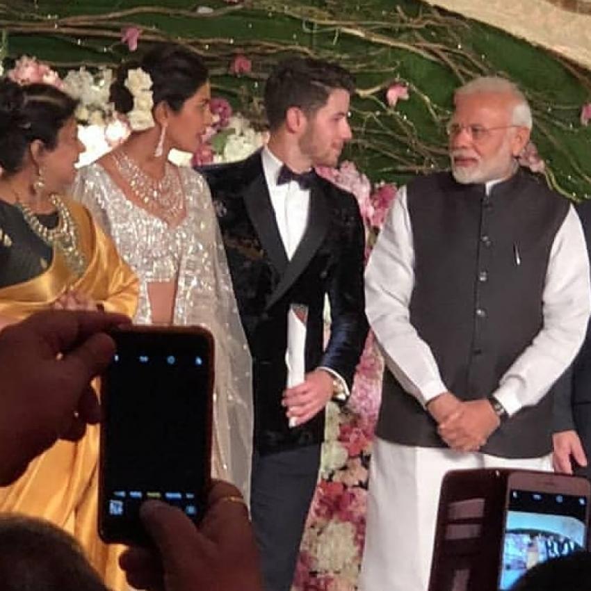 Priyanka Chopra And Nick Jonas Wedding Reception In Delhi Photos