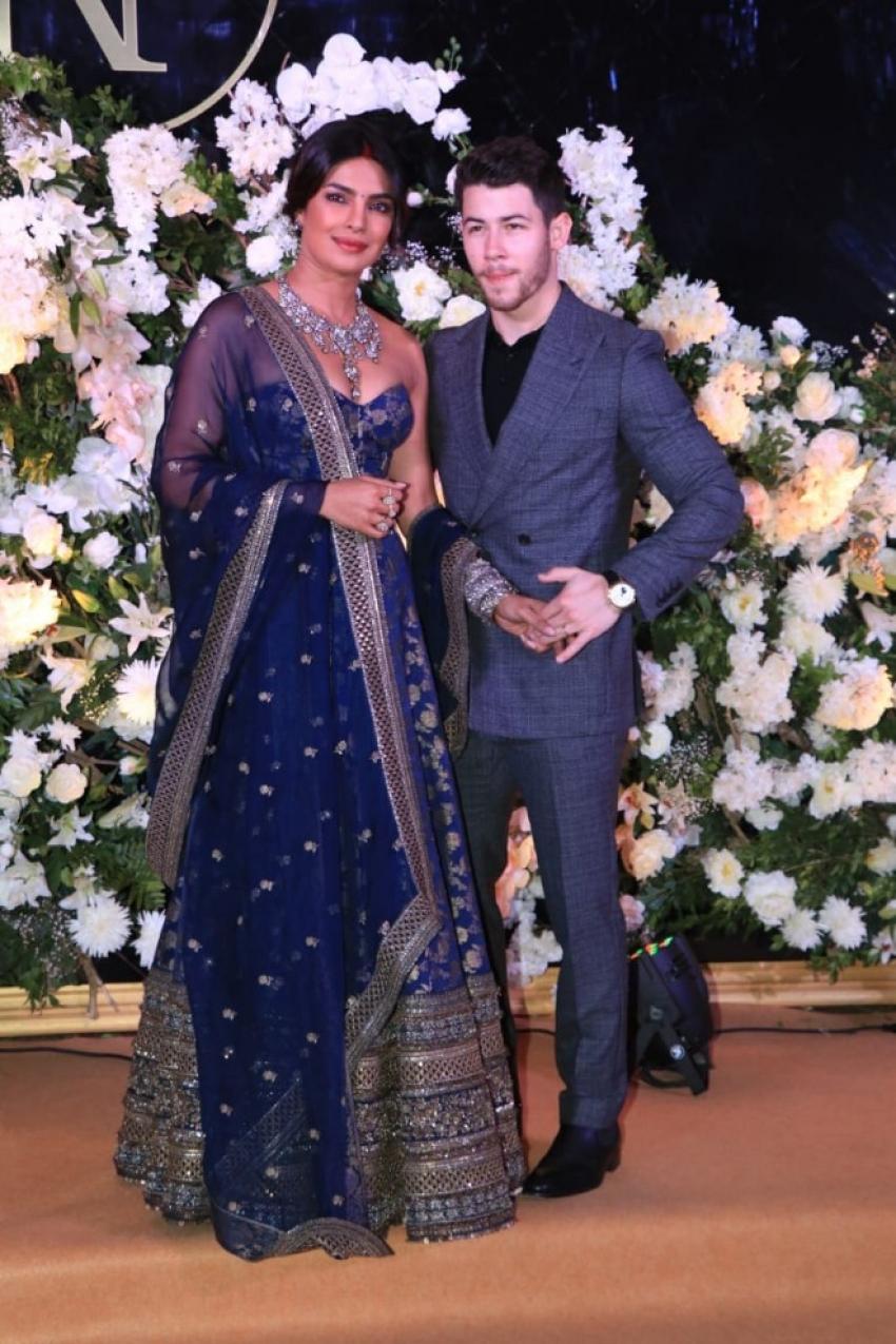 Priyanka Chopra & Nick Jonas Wedding Reception In Mumbai Photos
