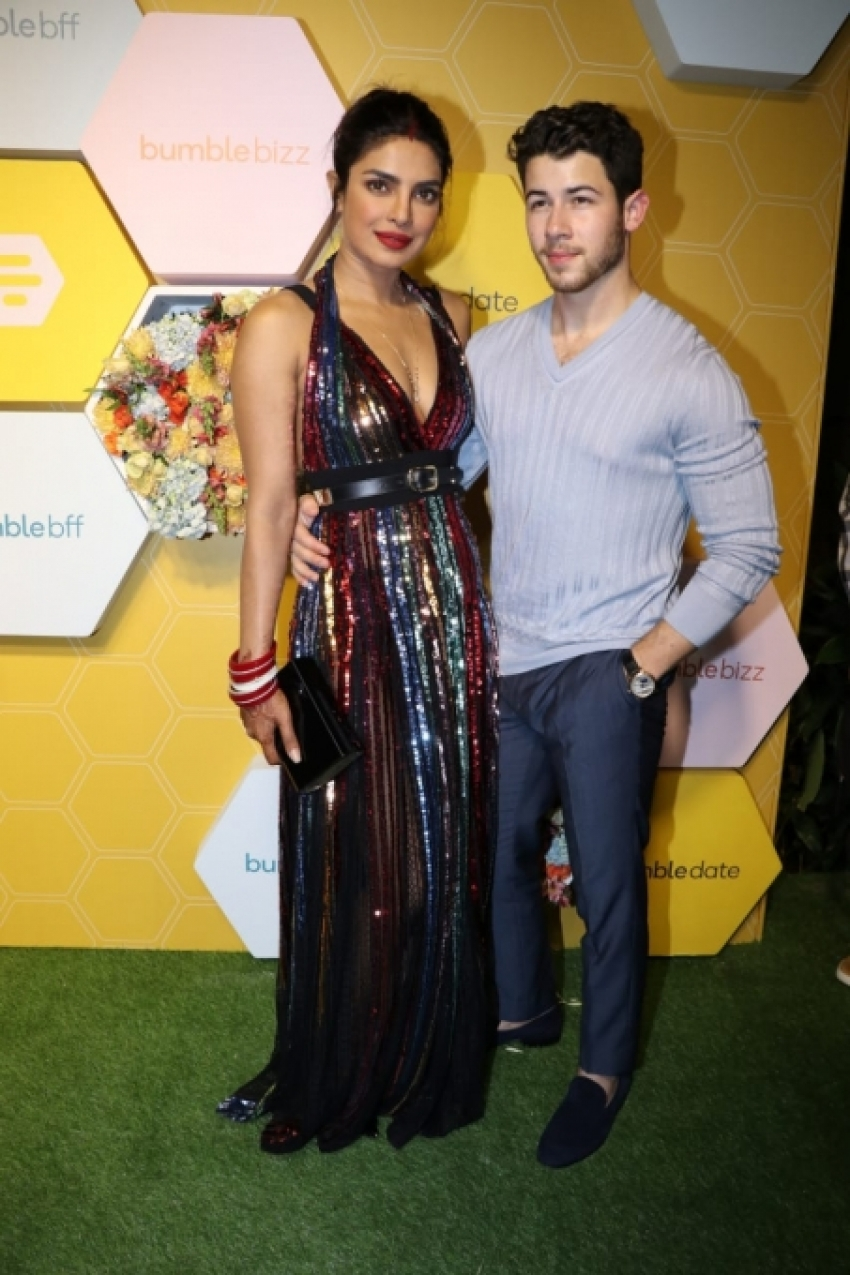 Priyanka-Nick Attend Bumble Launch Party In Mumbai Photos