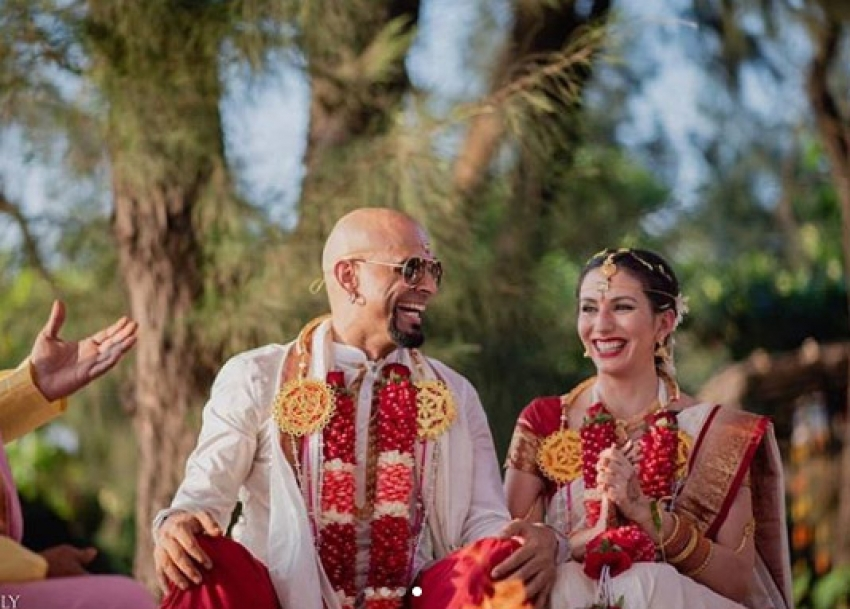 Raghu Ram And Natalie Di Luccio South Indian Tradition marriage Photos