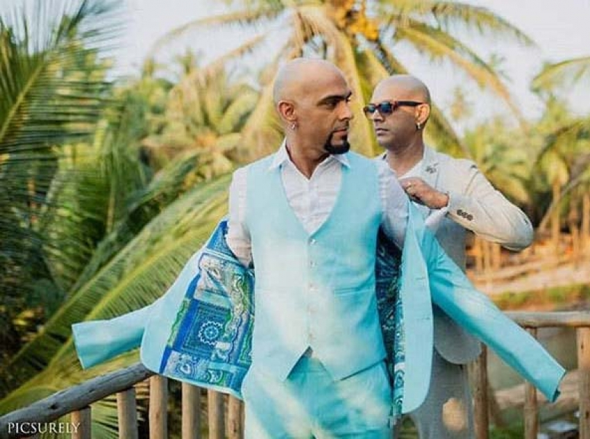 Raghu Ram and Natalie Di Luccio's Christian Wedding Photos