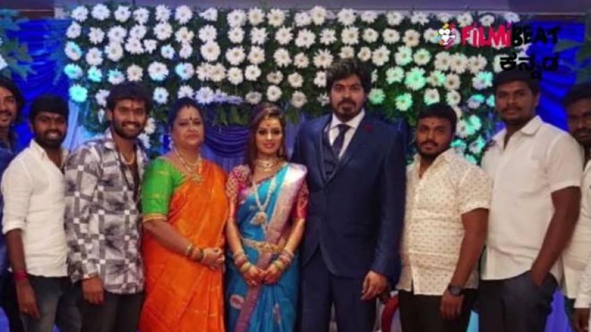 Rajahuli Movie Actor Harsha Weds Aishwarya Photos