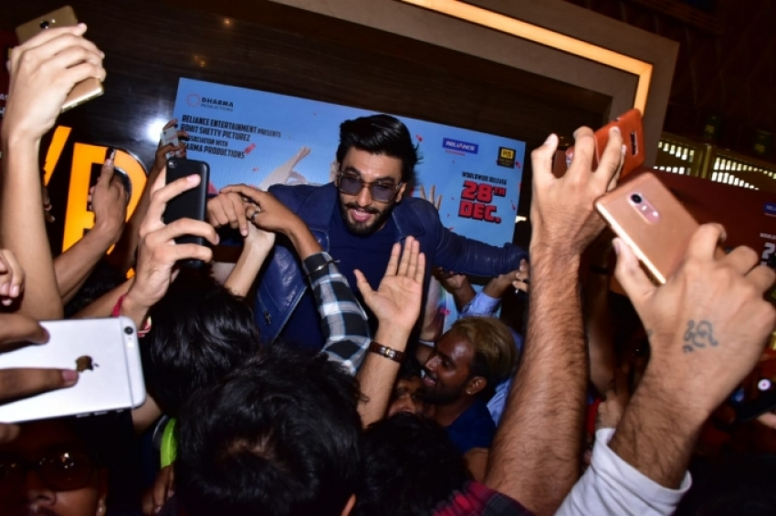 Ranveer Singh & Sara Ali Khan Simbaa Movie Trailer Launch Photos
