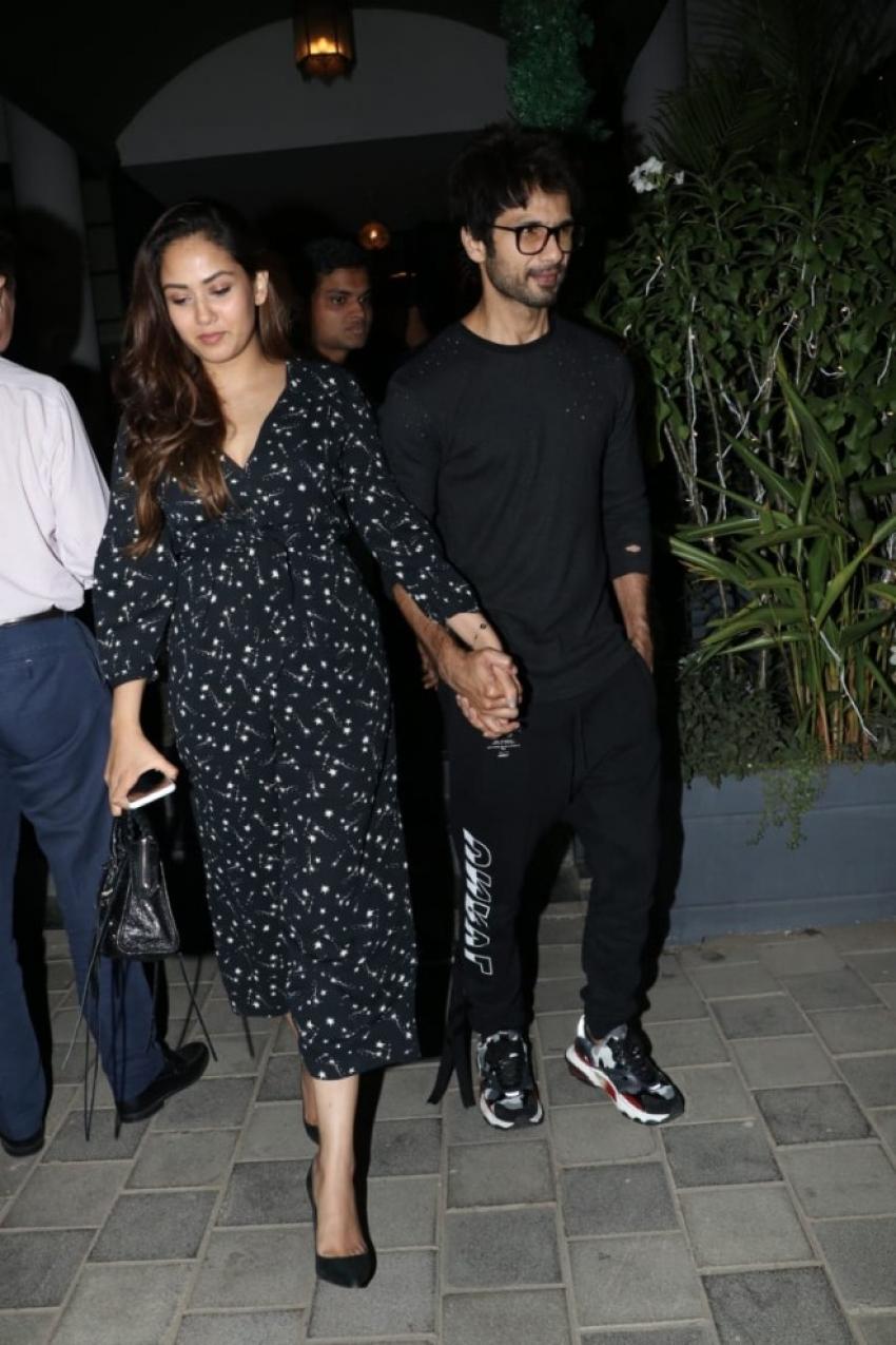 Shahid Kapoor and Mira Rajput Spotted at Soho House Restaurant Photos