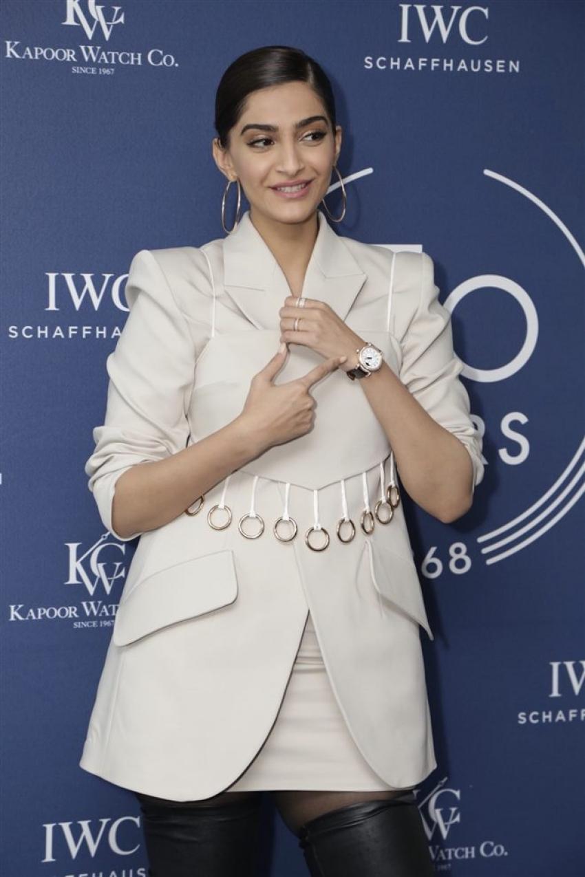 Sonam Kapoor At 150 Years Celebration Of IWC Schaffhausen Launch In New Delhi Photos
