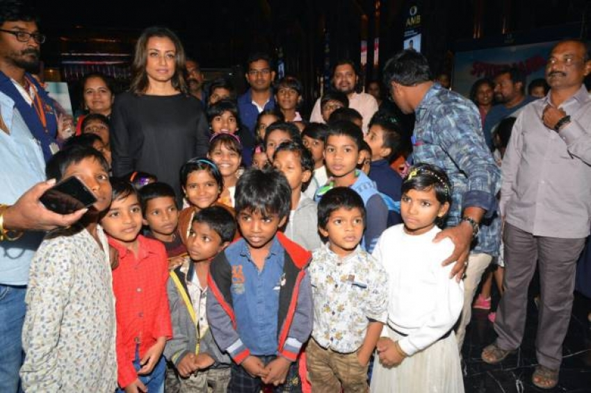 Spiderman Special Screening For Orphan Children at AMB Cinemas Photos