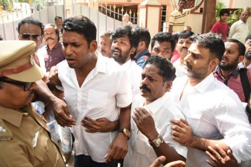 Tamil Actor & Producer Vishal Arrested By Chennai Police! Photos