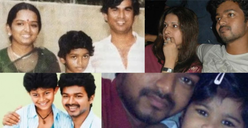 Actor Vijay Family Photos with Wife Sangeetha and their Childrens Photos
