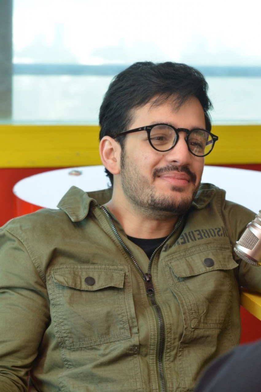 Akhil Akkineni Promotes Mr Majnu At Radio Mirchi FM Photos