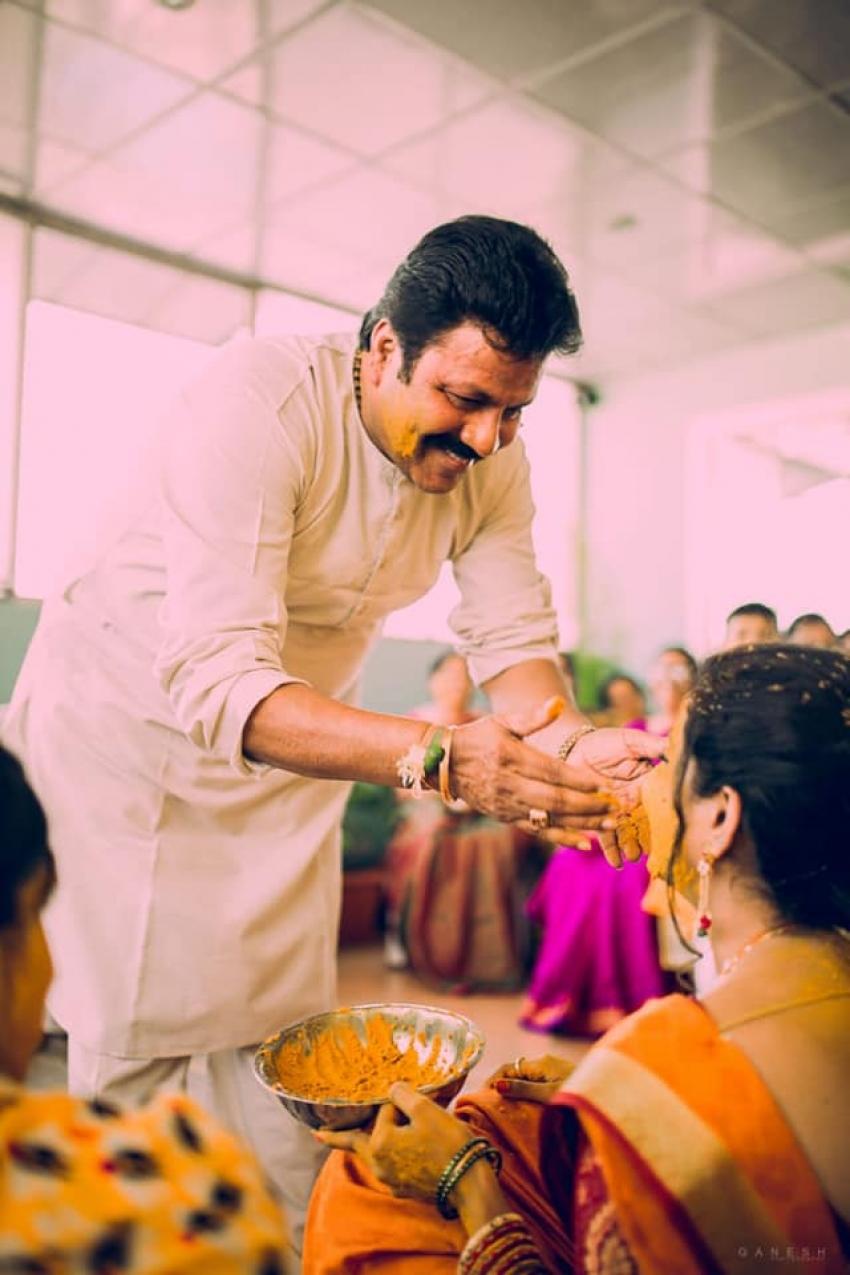 B C Patil Daughter Srushti Patil & Sanjay Marriage Photos