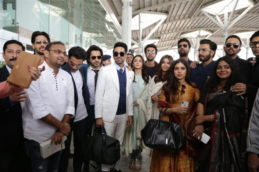 Bollywood Celebs Arrives To New Delhi To Meet PM Modi Photos