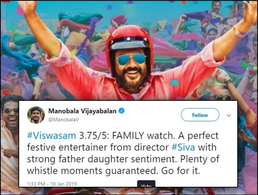 Celebs Reaction For Ajith Kumar Viswasam Movie Photos