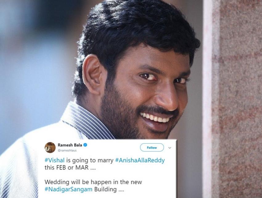 Celebs Wish Vishal And Anisha Alla Reddy On Their Engagement Photos