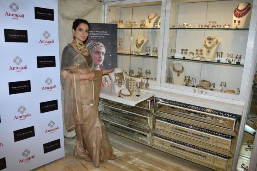 Kangana Ranaut At Amrapali Jewelry Store Photos