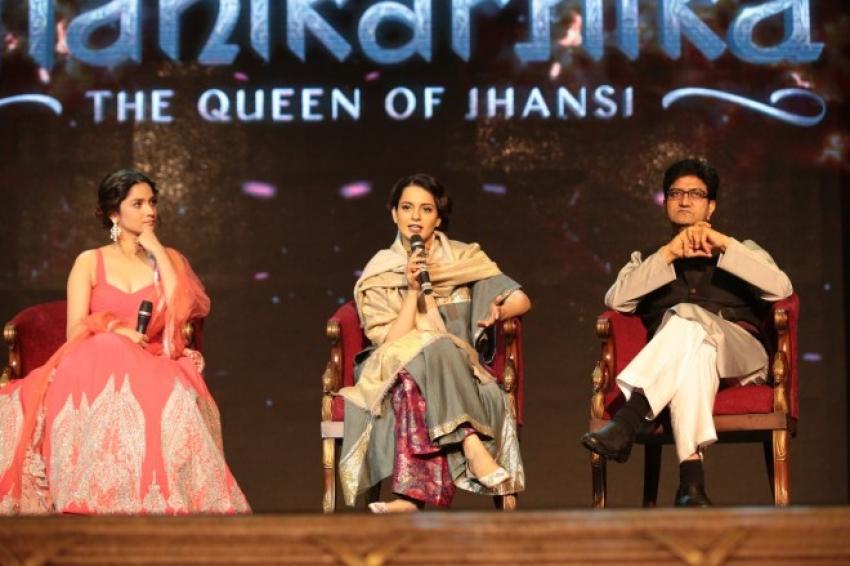 Kangana Ranaut At  Manikrnika Song Launch Photos