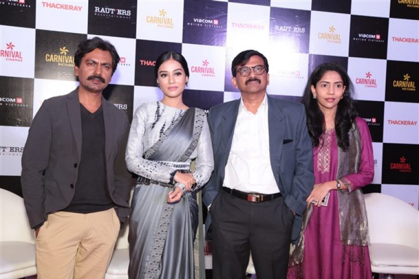 Nawazuddin Siddiqui and Amrita Rao Promote  Thackeray In New Delhi Photos