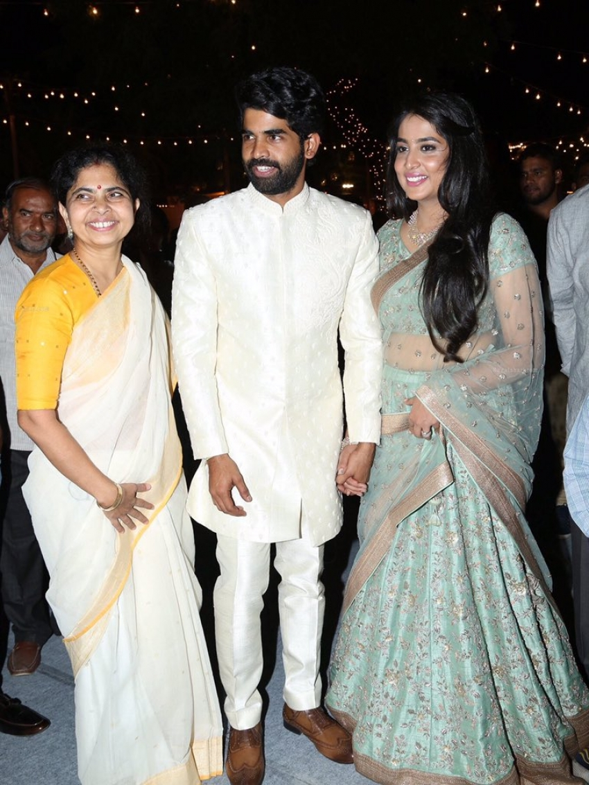 SS Rajamouli Son Karthikeya & Pooja Prasad Wedding Reception Photos