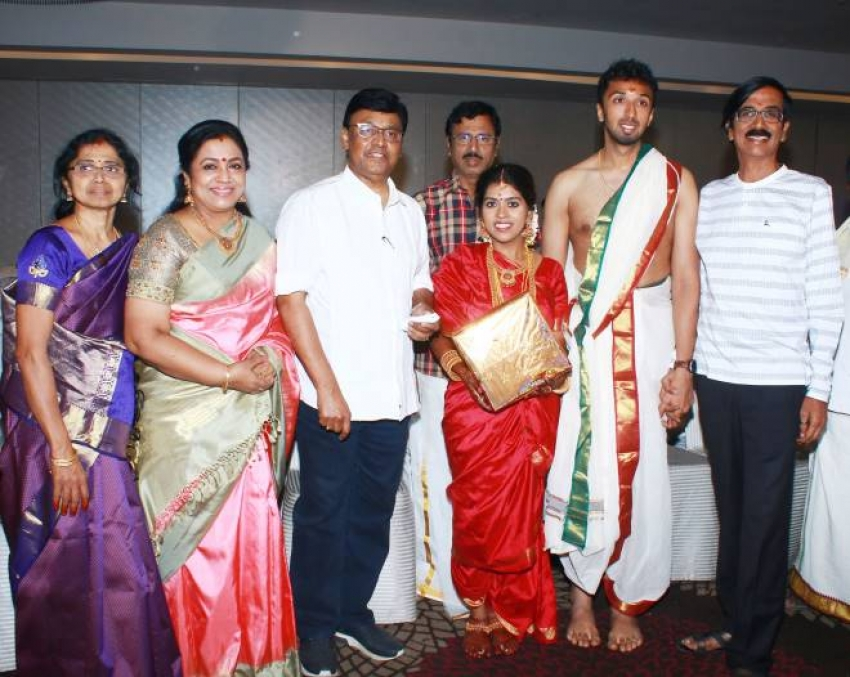 Actor Director Mano Bala Son Harish - Priya Wedding Photos