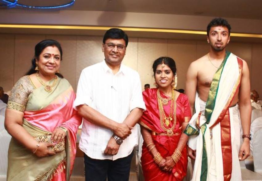 Actor Director Mano Bala Son Harish - Priya Wedding Photos