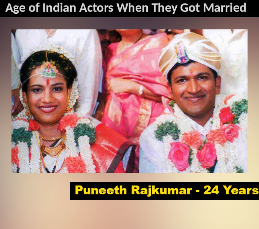 Age of Indian Actors When They Got Married Photos