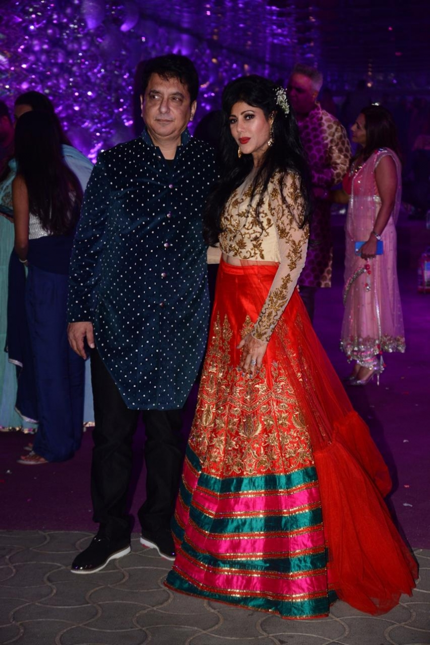 Celebs At Azhar Morani & Tanya Seth Sangeet Photos