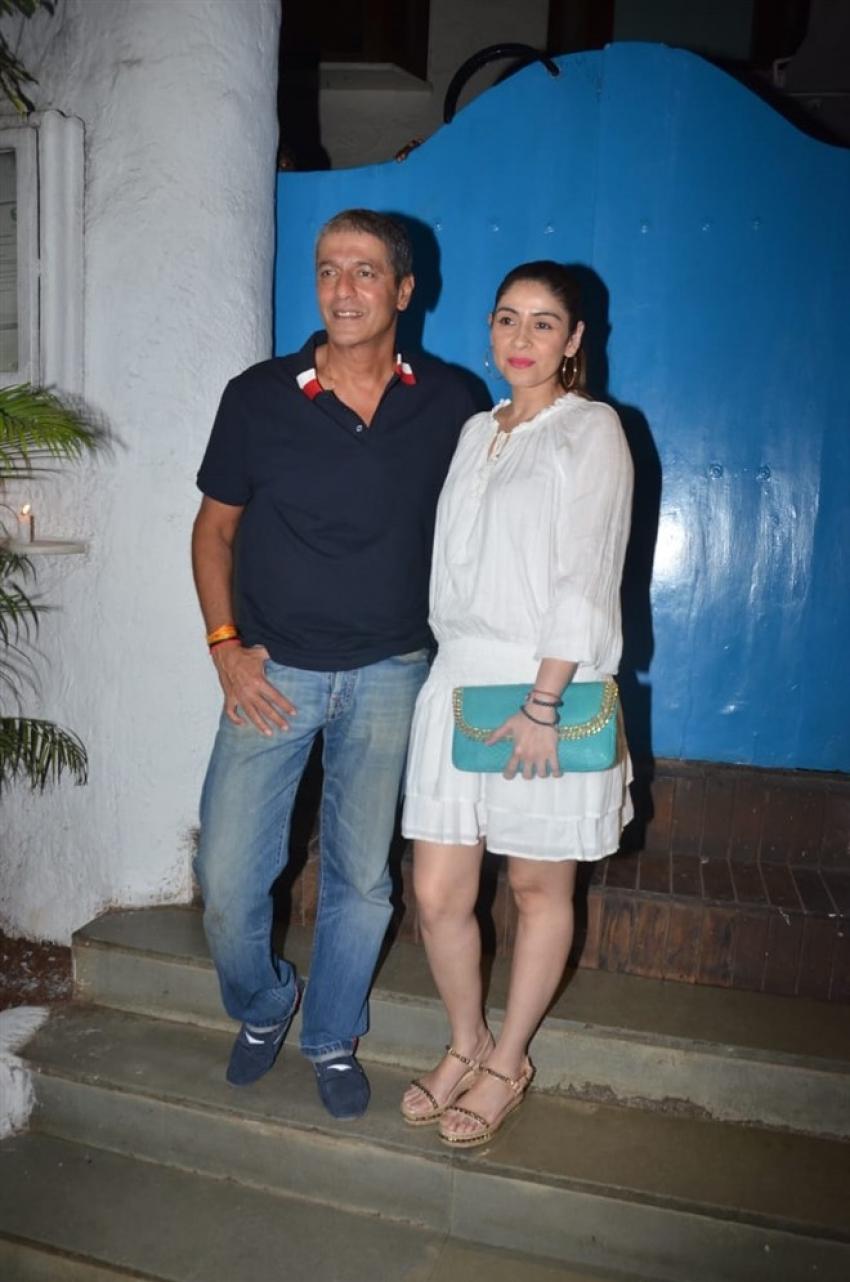 Chunky Panday, Bhavana Pandey, Ritesh Sidhwani With Wife & Raveena Tandon Spotted At Olive, Mumbai Photos