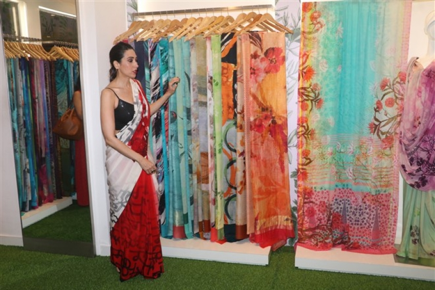 Karisma kapoor Launches Spice Bloom Collection For Satya Paul Photos