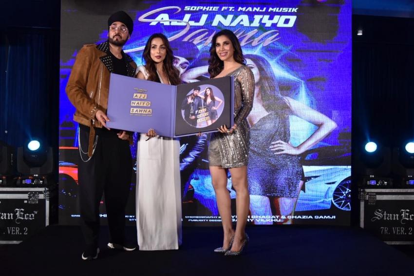 Malaika Arora Launches Sophie Choudry's New Punjabi Single Photos