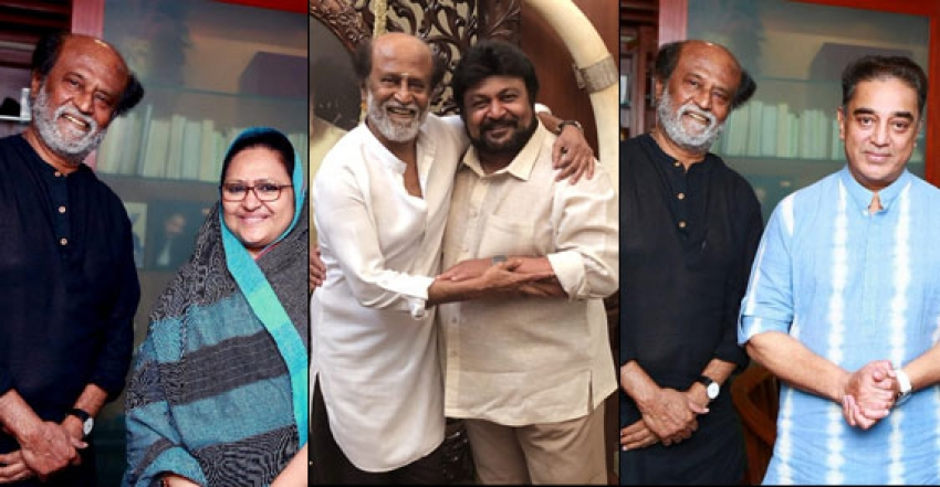 Rajnikanth Meets Celebs And Invites Them To Their Daughter Marriage Photos