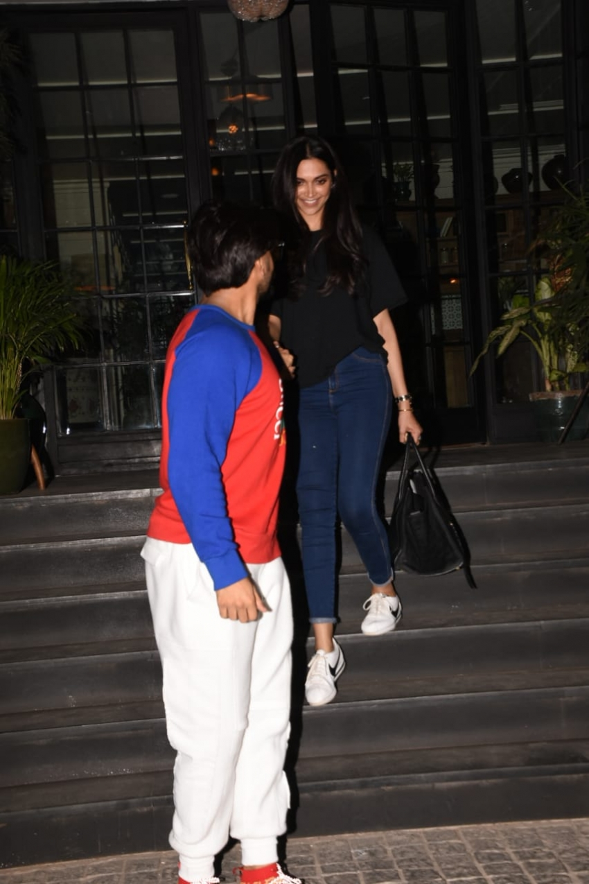 Ranveer Singh & Deepika Padukone spotted at Soho House in ...