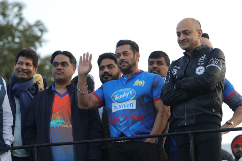 Salman Khan at Celebrity Cricket League in Chandigarh Photos