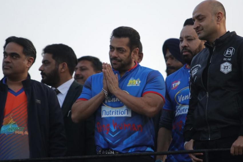 Salman Khan at Celebrity Cricket League in Chandigarh Photos