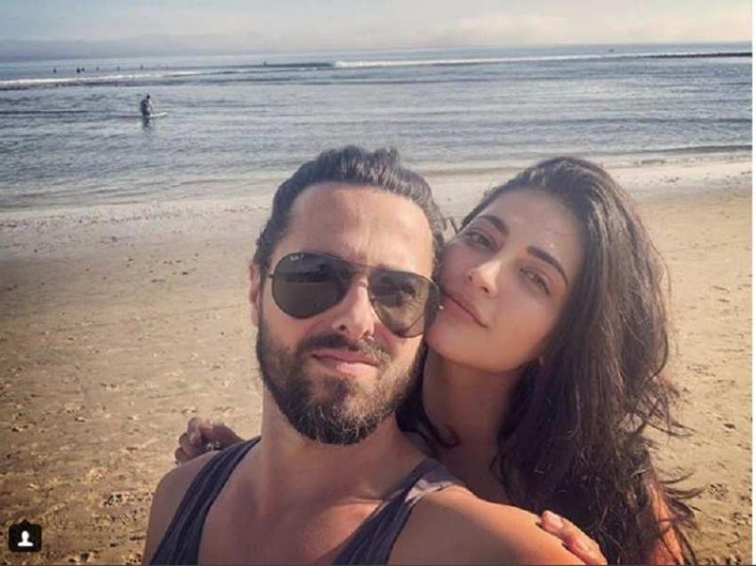 Shruti Haasan with her British boyfriend Michael Corsale Photos