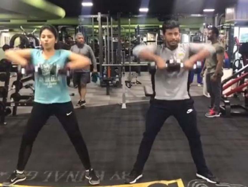 Actress Anjali Unseen Workout Photos