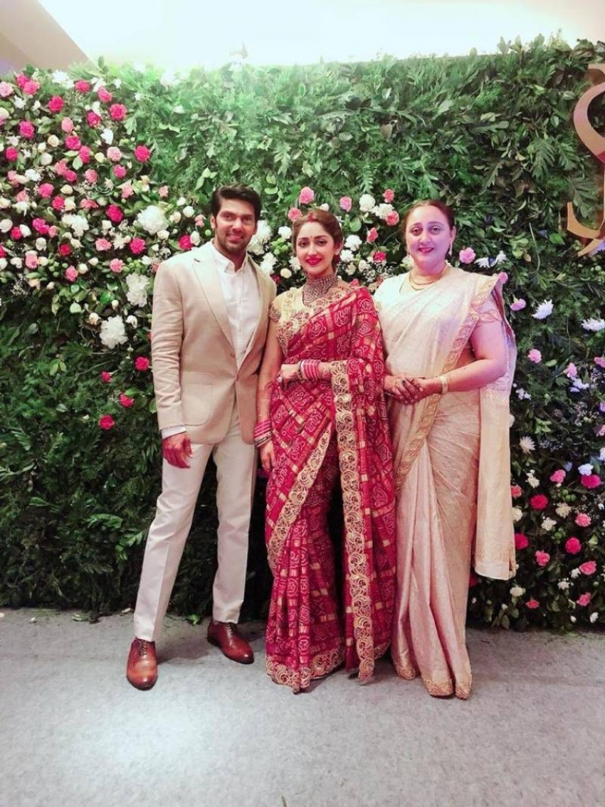 Arya And Sayyesha Saigal Wedding Reception In Chennai Photos