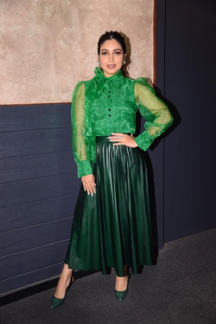 Bhumi Pednekar Visit Cinemaghar To Promote Sonchiriya Photos