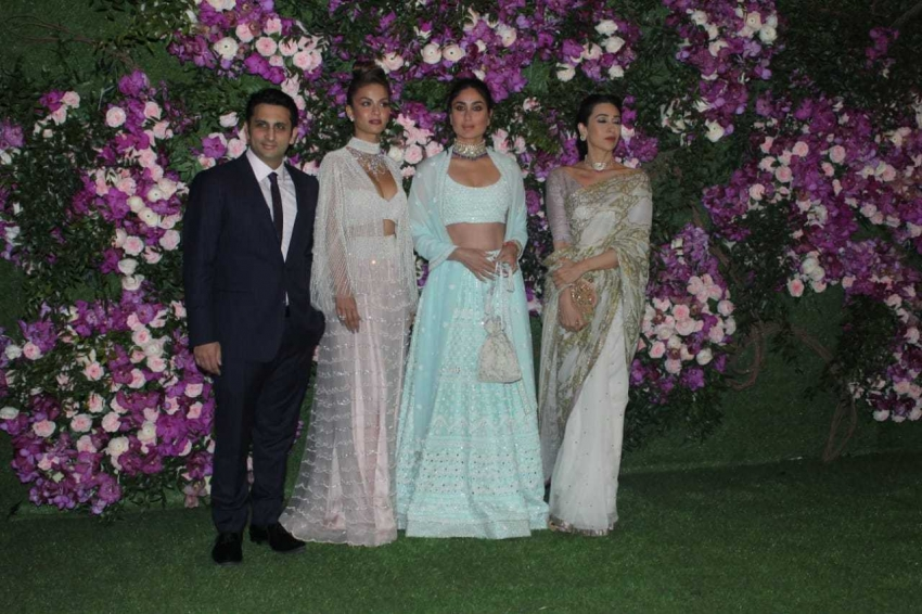 Celebs At Grand Wedding Reception Of Ambani Son At Jio Gardens Photos